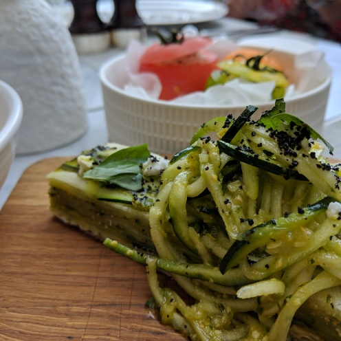 Courgette & Basil Tart